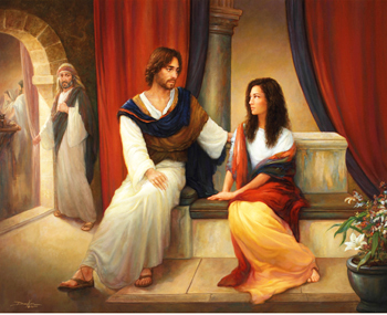Mary Magdalene with Jesus