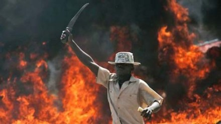 Post-election violence in  Kenya 2008.