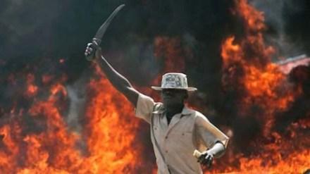 Post-election violence in  Kenya 2008.