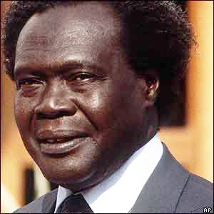 "Obote's ""won"" an election that turned into a poison chalice (AP photo)."