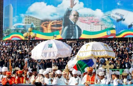 Underlying the complexity of the story of his rule, thousands turned up for Meles' funeral - and there was genuine grief.