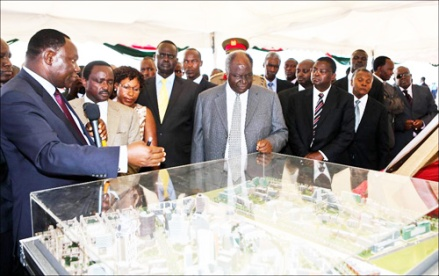 Kibaki launches the Konza Technology City: It is not always that an 82-year-old African president can spur an innovation wave--but picking people like Bitange Ndemo (exteme left) helped a lot.